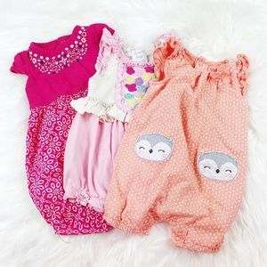 Other - [BABY GIRL] Lot of Rompers